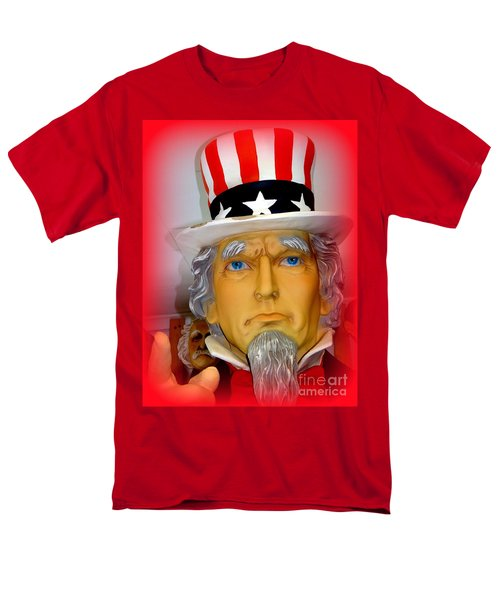 Uncle Sam Wants You Men's T-Shirt  (Regular Fit) by Ed Weidman