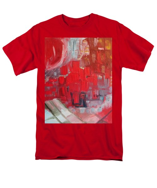 Men's T-Shirt  (Regular Fit) featuring the painting Urban View by Evelina Popilian