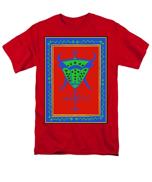 Men's T-Shirt  (Regular Fit) featuring the digital art Voodoo Bosou by Vagabond Folk Art - Virginia Vivier