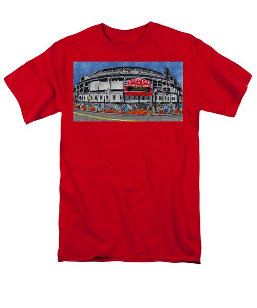 Welcome To Wrigley Field Men's T-Shirt  (Regular Fit) by Phil Strang