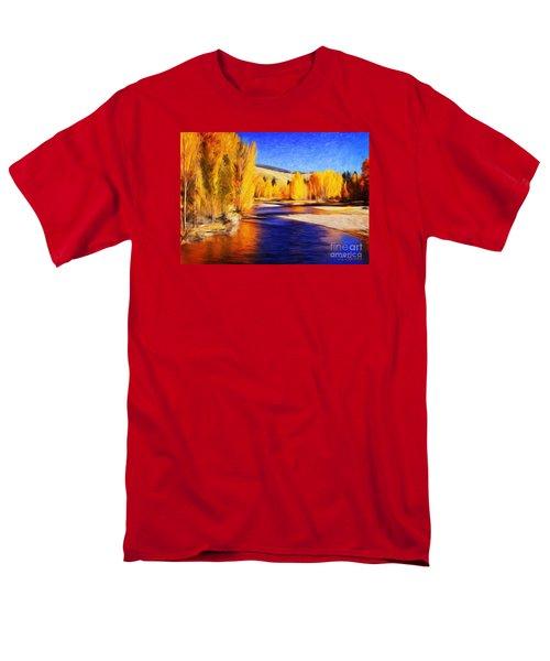Yellow Bend In The River II Men's T-Shirt  (Regular Fit) by Joseph J Stevens