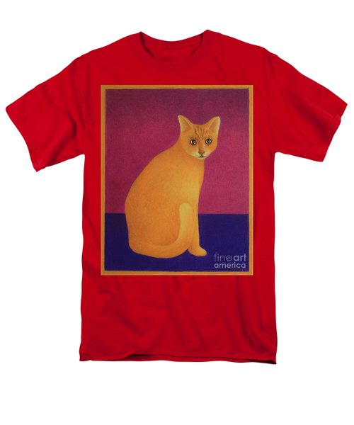 Yellow Cat Men's T-Shirt  (Regular Fit) by Pamela Clements