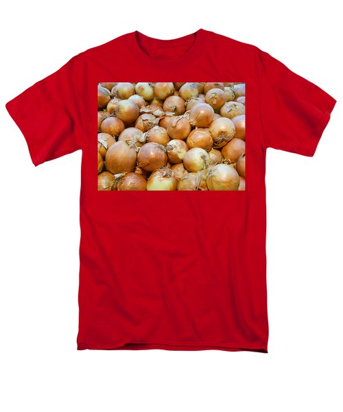 Men's T-Shirt  (Regular Fit) featuring the photograph Yellow Onions by Emmy Marie Vickers