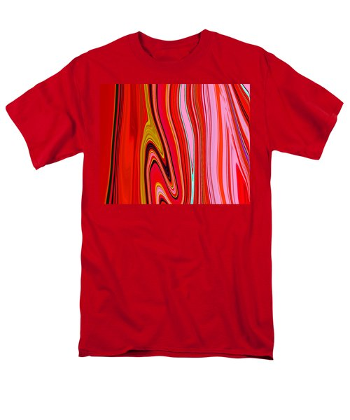 Men's T-Shirt  (Regular Fit) featuring the painting Yipes Stripes  C2014 by Paul Ashby