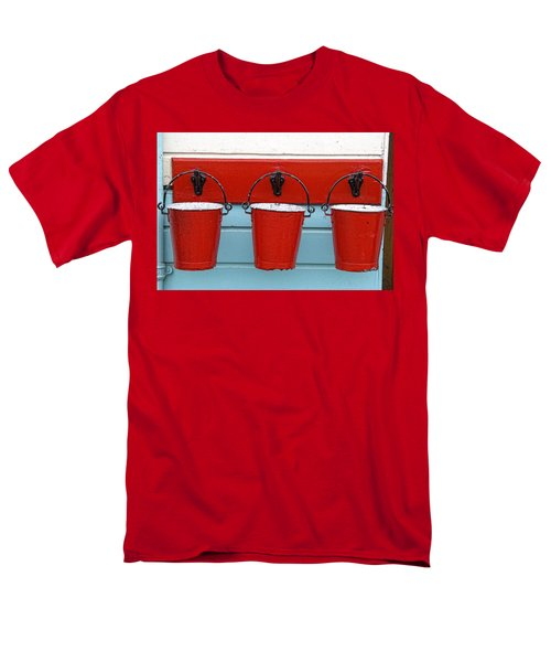 Three Red Buckets Men's T-Shirt  (Regular Fit) by John Short