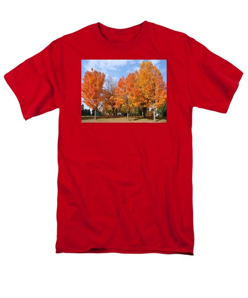 Men's T-Shirt  (Regular Fit) featuring the photograph Autumn Leaves by Athena Mckinzie