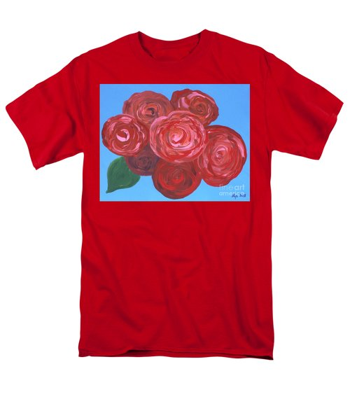 Men's T-Shirt  (Regular Fit) featuring the painting Bouquet Of Roses by Alys Caviness-Gober