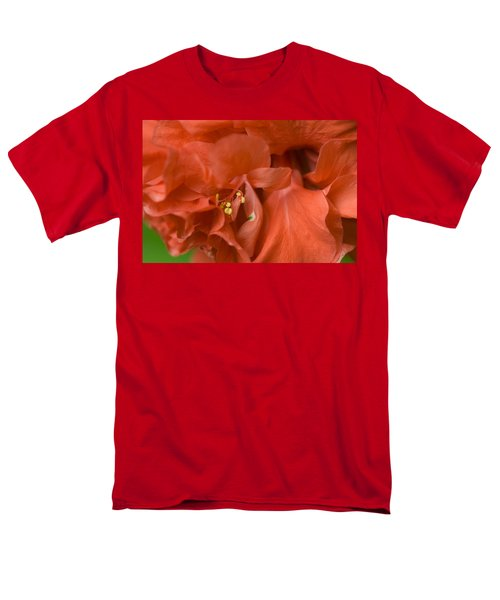 Curly Hibiscus Men's T-Shirt  (Regular Fit) by Rich Franco