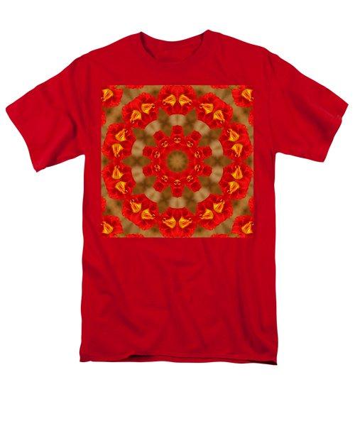 Day Lily Kaleidoscope Men's T-Shirt  (Regular Fit) by Bill Barber