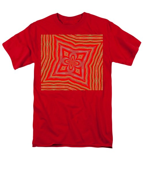 Men's T-Shirt  (Regular Fit) featuring the digital art Favorite Red Pillow by Alec Drake