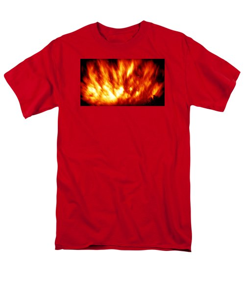 Fire In The Starry Sky Men's T-Shirt  (Regular Fit) by Paul  Wilford