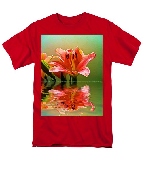 Men's T-Shirt  (Regular Fit) featuring the photograph Flooded Lily by Bill Barber