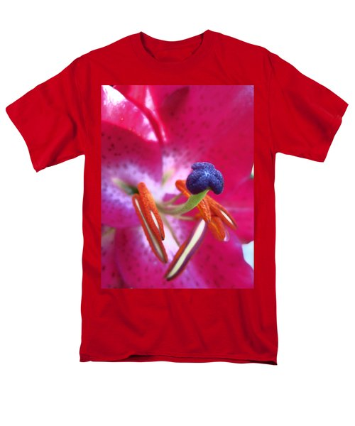 Men's T-Shirt  (Regular Fit) featuring the photograph Hot Pink Lilly Up Close by Kym Backland
