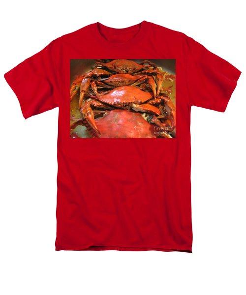 Men's T-Shirt  (Regular Fit) featuring the photograph Crab Dinner Ocean Seafood  by Susan Carella