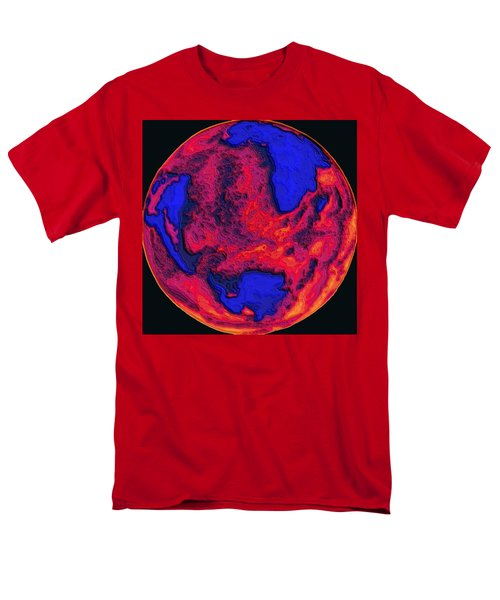 Men's T-Shirt  (Regular Fit) featuring the digital art Oceans Of Fire by Alec Drake