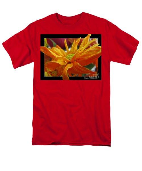 Men's T-Shirt  (Regular Fit) featuring the photograph Orange Juice Daisy by Debbie Portwood