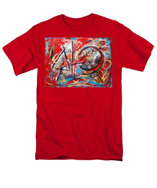 Men's T-Shirt  (Regular Fit) featuring the painting Party At The Ranch by M Diane Bonaparte