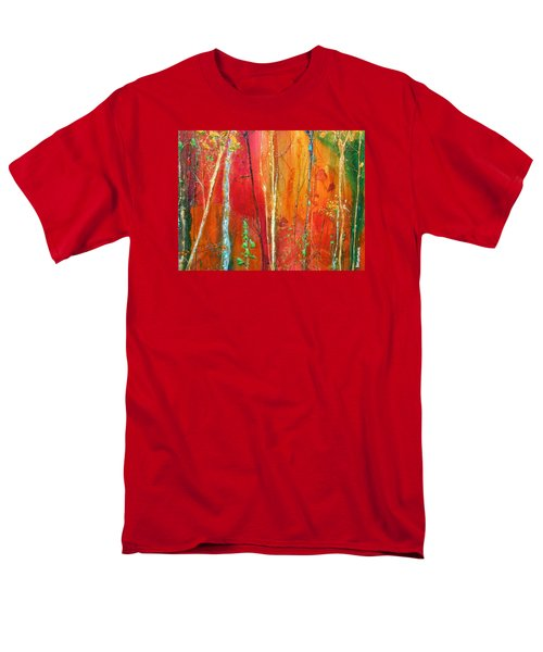 Men's T-Shirt  (Regular Fit) featuring the painting Quinacridone Hollow  by Dan Whittemore