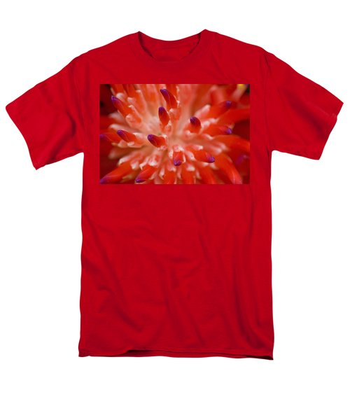 Red Bromeliad Men's T-Shirt  (Regular Fit) by Rich Franco