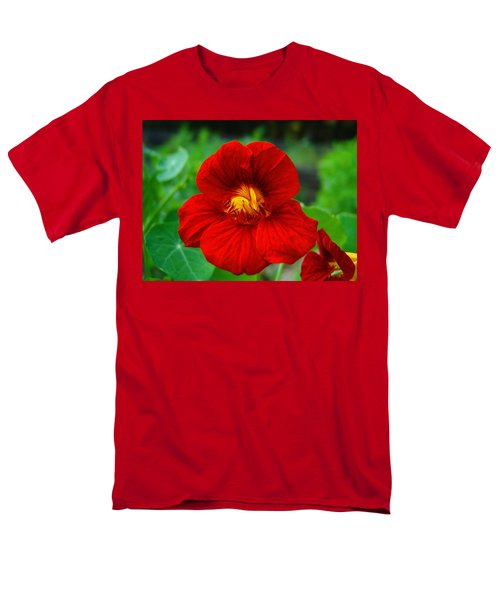 Red Daylily Men's T-Shirt  (Regular Fit)
