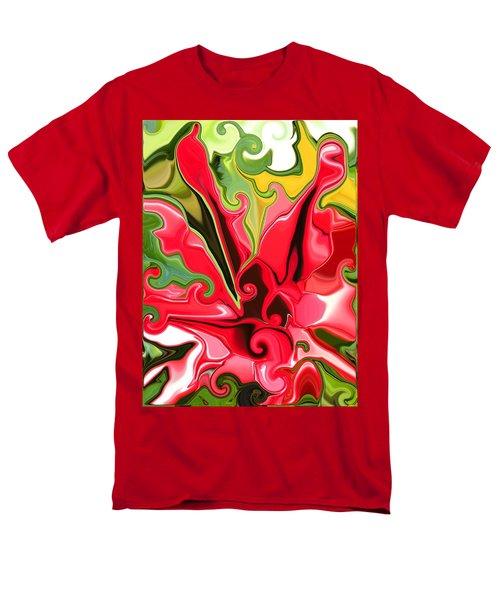 Red Fantasy Lily Men's T-Shirt  (Regular Fit) by Renate Nadi Wesley