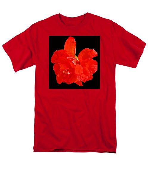 Red Hibiscus Men's T-Shirt  (Regular Fit) by Cindy Manero