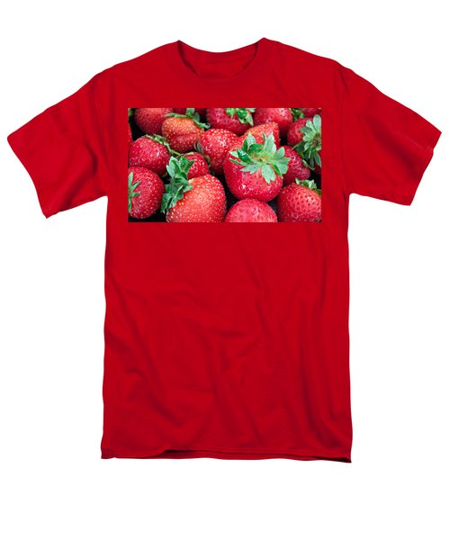 Men's T-Shirt  (Regular Fit) featuring the photograph Strawberry Delight by Sherry Hallemeier