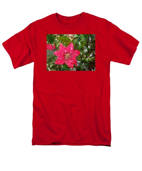 Christmas Poinsettia Men's T-Shirt  (Regular Fit)
