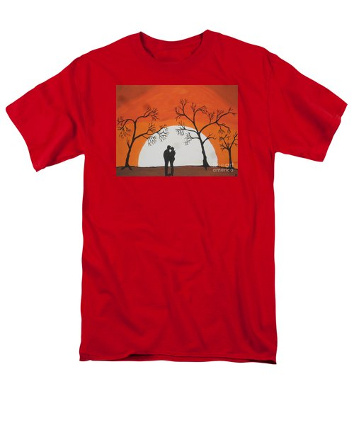 Men's T-Shirt  (Regular Fit) featuring the painting  First Kiss by Jeffrey Koss