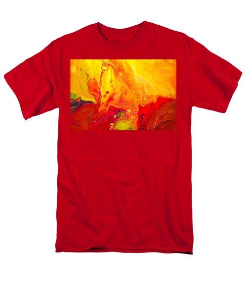 Melancholy - Abstract Warm Mixed Media Painting Men's T-Shirt  (Regular Fit) by Modern Art Prints