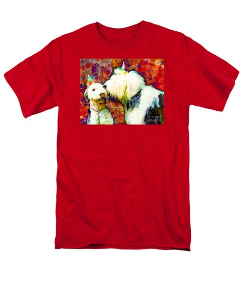 A Birthday Kiss Men's T-Shirt  (Regular Fit) by Alene Sirott-Cope