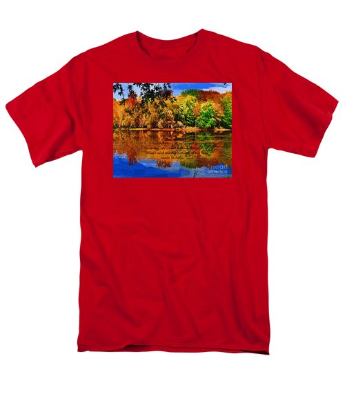 Men's T-Shirt  (Regular Fit) featuring the painting Autumn Serenity Painted by Diane E Berry