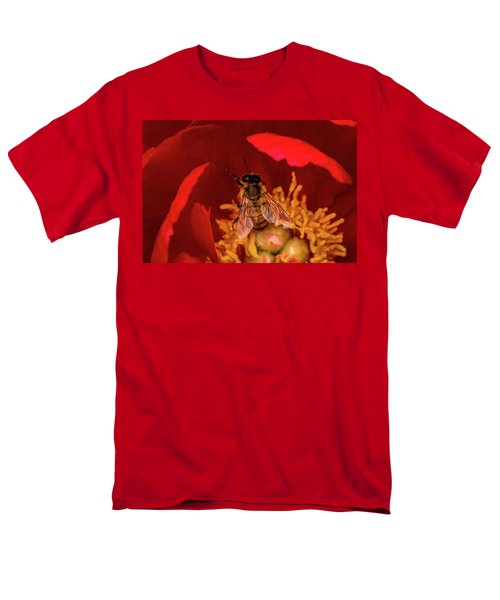 Men's T-Shirt  (Regular Fit) featuring the photograph Bee by Jay Stockhaus