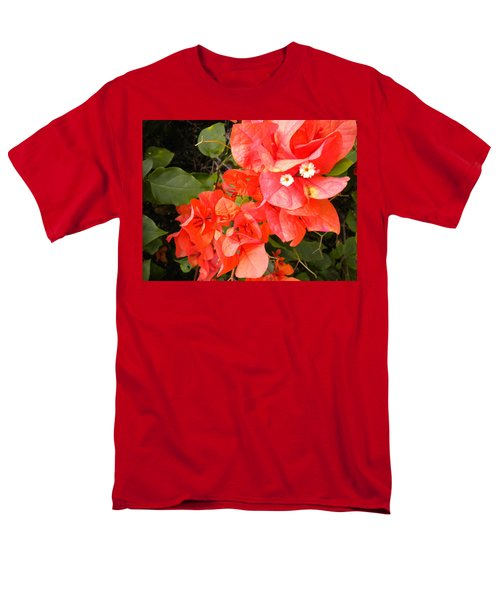 Men's T-Shirt  (Regular Fit) featuring the painting Bouganvilla 1 by Renate Nadi Wesley