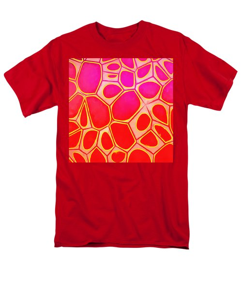 Cells Abstract Three Men's T-Shirt  (Regular Fit) by Edward Fielding