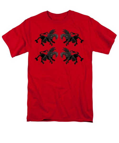 Dragon Cutout Men's T-Shirt  (Regular Fit)