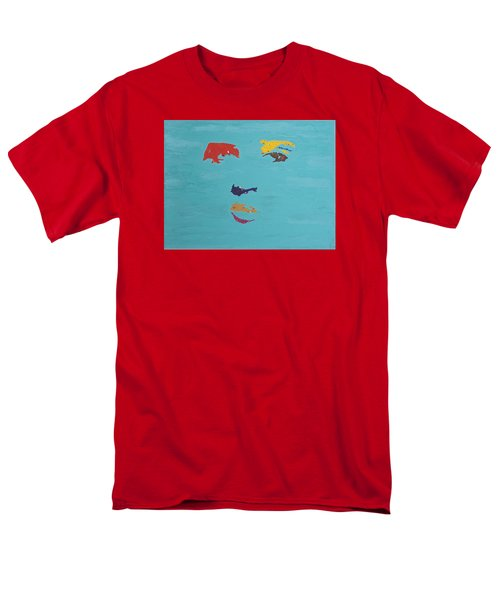 Elvis In The Sky Men's T-Shirt  (Regular Fit) by Stormm Bradshaw