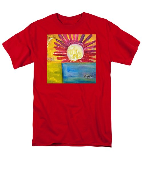 Men's T-Shirt  (Regular Fit) featuring the painting Floral by Evelina Popilian