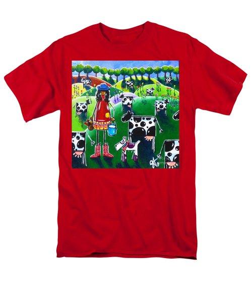 Moo Cow Farm Men's T-Shirt  (Regular Fit) by Jackie Carpenter