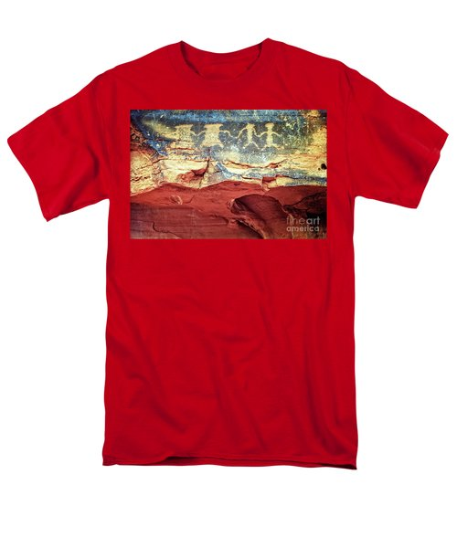 Red Rock Canyon Petroglyphs Men's T-Shirt  (Regular Fit) by Jim And Emily Bush