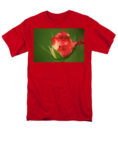 Men's T-Shirt  (Regular Fit) featuring the photograph Rosebud by Donna G Smith