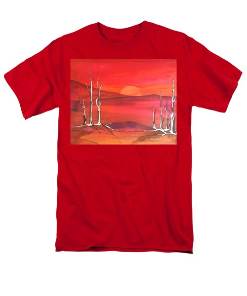 Men's T-Shirt  (Regular Fit) featuring the painting Sunrise by Pat Purdy