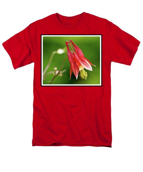 Wild Columbine Flower Men's T-Shirt  (Regular Fit) by A Gurmankin