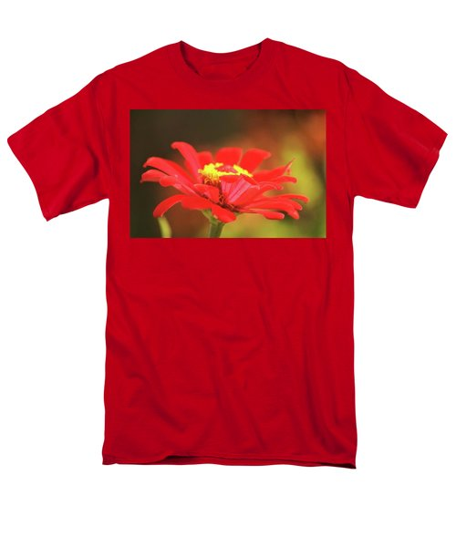 Men's T-Shirt  (Regular Fit) featuring the photograph Zinnia by Donna G Smith