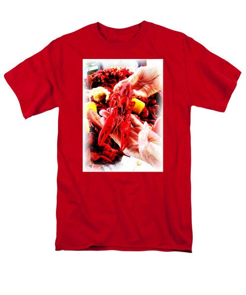 102715 Louisiana Lobster Men's T-Shirt  (Regular Fit) by Garland Oldham