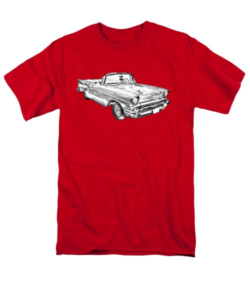 1957 Chevrolet Bel Air Convertible Illustration Men's T-Shirt  (Regular Fit) by Keith Webber Jr