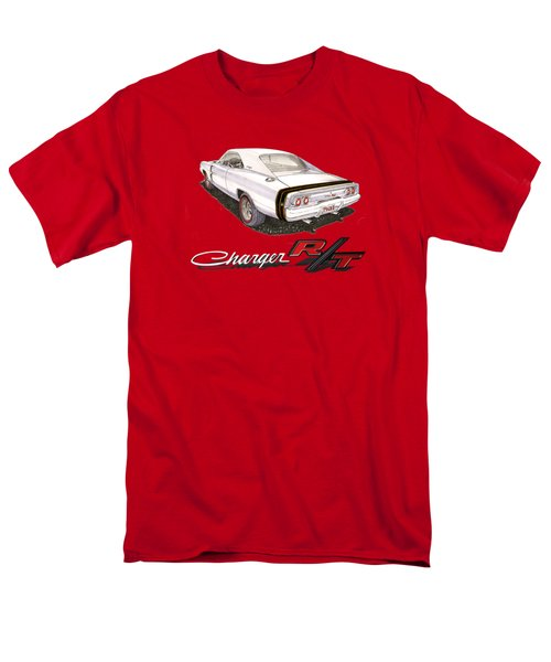 Men's T-Shirt  (Regular Fit) featuring the painting 1968 Dodge Charger Tee Shirt by Jack Pumphrey