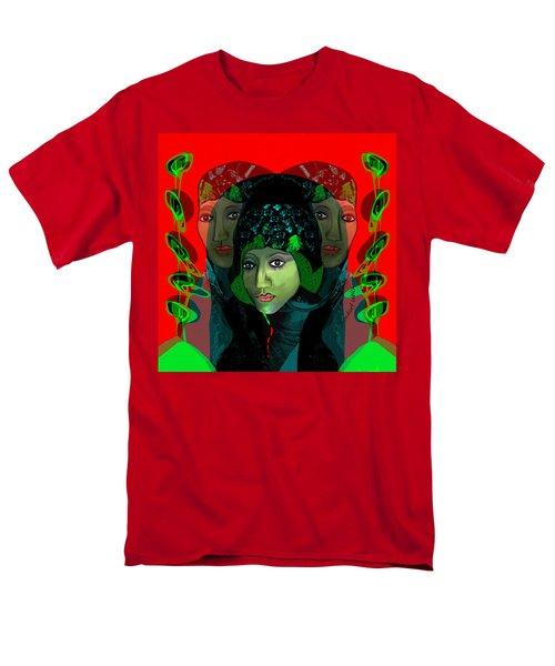 Men's T-Shirt  (Regular Fit) featuring the digital art 1975 - Mystery Woman by Irmgard Schoendorf Welch