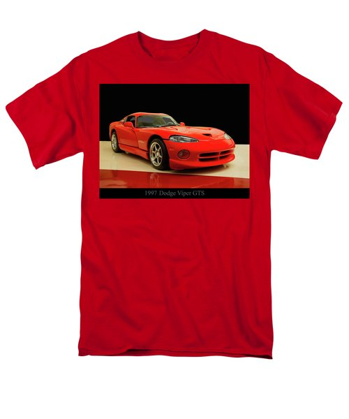 Men's T-Shirt  (Regular Fit) featuring the digital art 1997 Dodge Viper Gts Red by Chris Flees