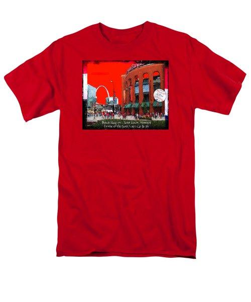 Men's T-Shirt  (Regular Fit) featuring the photograph Busch Stadium - Saint Louis Missouri by John Freidenberg